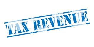 Tax revenue blue stamp Stock Photos