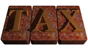 TAX rusty stamp Stock Photos