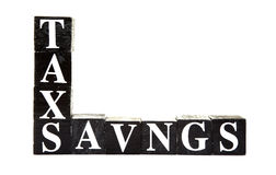 Tax savings Royalty Free Stock Image