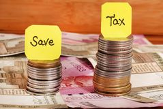 Tax savings royalty free stock images