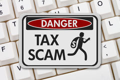 Tax scam danger sign Stock Image