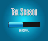 Tax season loading bar sign concept. Illustration design isolated over white Stock Photos