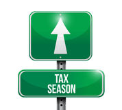 Tax season road sign concept. Illustration Royalty Free Stock Images