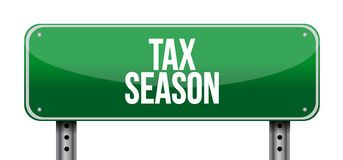 Tax season street sign concept. Illustration design isolated over white Stock Image