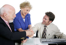 Tax Series - Group Handshake royalty free stock images