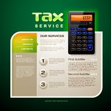 Tax Service Brochure Royalty Free Stock Photos