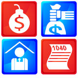 Tax Service Buttons Stock Photos