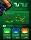 Tax Services Brochure Royalty Free Stock Photo