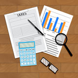 Tax statistics vector Stock Photos