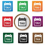 Tax symbol,Colorful buttons Royalty Free Stock Photography
