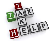 Tax take help Royalty Free Stock Photos