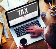Tax Taxation Audit Refund Accounting Concept Stock Photography