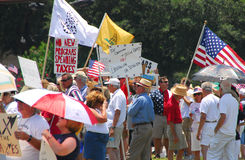 Tax Tea Party Protesters Royalty Free Stock Photo
