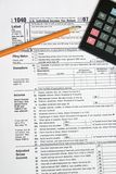 Tax Time 2. Tax form pencil and calculator for tax time Royalty Free Stock Image