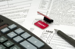 Tax Time. Tax Related Items Royalty Free Stock Image