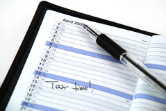 Tax time appointment Stock Image