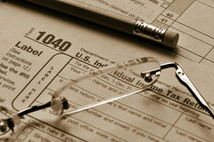 Tax Time - April 15th Deadline. Stock Images