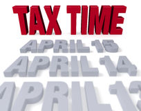 Tax Time Arrives Stock Image