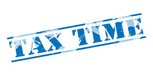 Tax time blue stamp Royalty Free Stock Photography