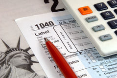 Tax Time Closeup Royalty Free Stock Images