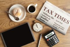 Tax time concept Stock Images