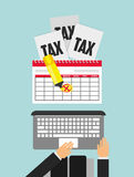 tax time design Stock Photos