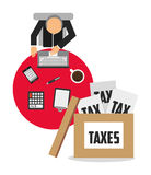 tax time design Royalty Free Stock Photo