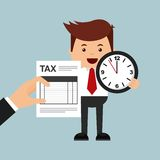 Tax time design. Illustration eps10 graphic Royalty Free Stock Image