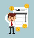 Tax time design. Illustration eps10 graphic Stock Photo