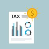 Tax time design. Illustration eps10 graphic Stock Photography