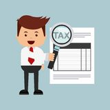 Tax time design. Illustration eps10 graphic Stock Images