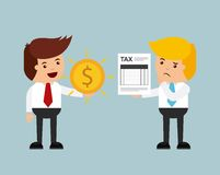 Tax time design. Illustration eps10 graphic Royalty Free Stock Photos