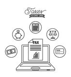Tax time design Royalty Free Stock Image