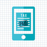 Tax time design Royalty Free Stock Images