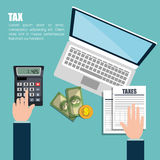 Tax time design. Illustration eps10 graphic Royalty Free Stock Images