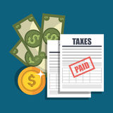 Tax time design. Illustration eps10 graphic Royalty Free Stock Photo