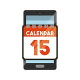 Tax time design. Smartphone device with calendar icon over white background. tax design. vector illustration Stock Image