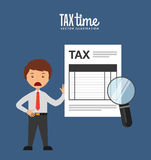 Tax time design Royalty Free Stock Photos