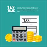 Tax time flat icons. Vector illustration design Royalty Free Illustration