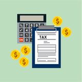 Tax time flat icons. Vector illustration design Vector Illustration