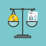 Tax time flat line icons. Illustration design Stock Photos