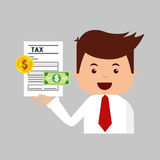 Tax time flat line icons. Illustration design Royalty Free Stock Photos