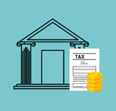 Tax time flat line icons. Illustration design Royalty Free Stock Images