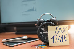 Tax Time Gives the Choice to File On-line or by Mail. Stock Photography