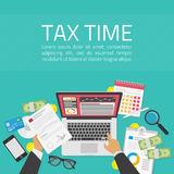 Tax time illustration Royalty Free Stock Images