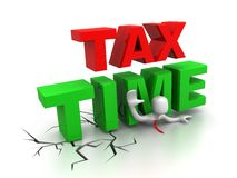 Tax time. This image represents tax time in his business or career. This can be used in business,educational, charitable or design purposes Royalty Free Stock Photography