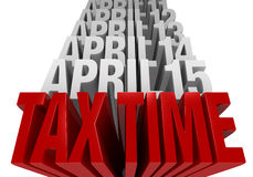 Tax Time Is Now! Royalty Free Stock Photography