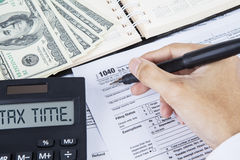 Tax time for paying tax Stock Photography