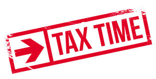 Tax time stamp Stock Image