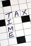 The tax time for the tax return. The tax time for the income tax return stock images